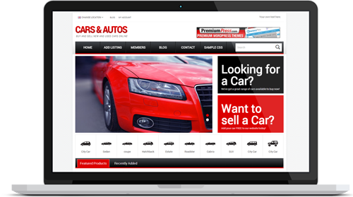 Responsive car dealer theme for WordPress