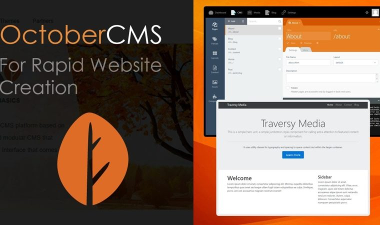OctoberCMS For Rapid Website Creation