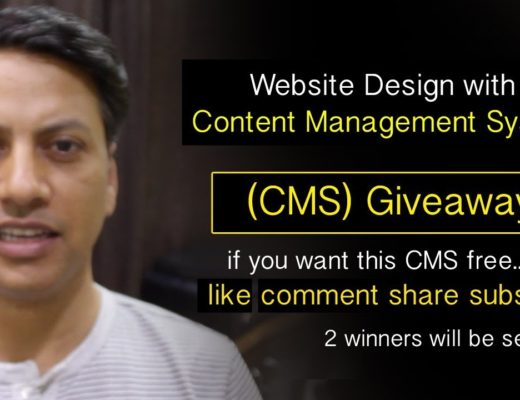 Website Design – Content Management System – CMS Giveaway