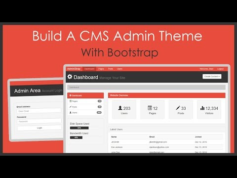 Build A CMS Admin Bootstrap Theme From Scratch What Is WordPress CMS Platform