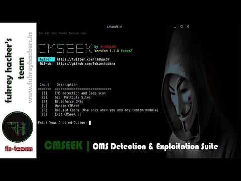 CMSeek CMS Detection and Exploitation Suite | WordPress Brute Force | Kali Linux 2018.3 What CMS WordPress