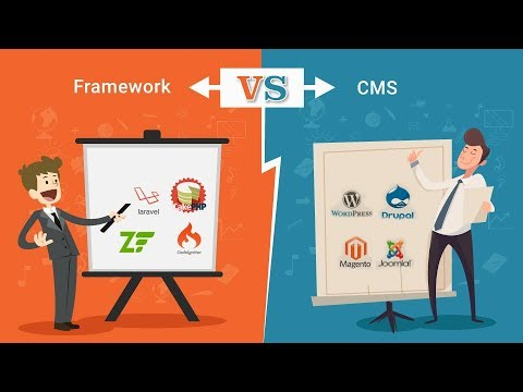 Difference between CMS and Frameworks
