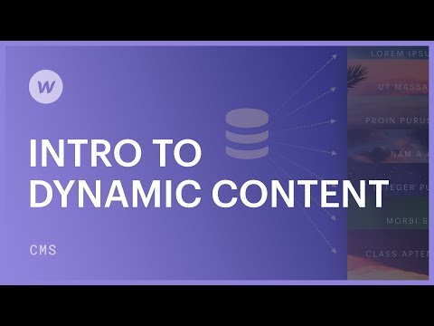 Dynamic content for beginners - Webflow CMS tutorial How WordPress CMS Works