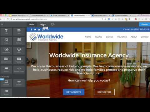 Insurance Agency Website CMS Demo - InsuranceSplash How WordPress CMS Works