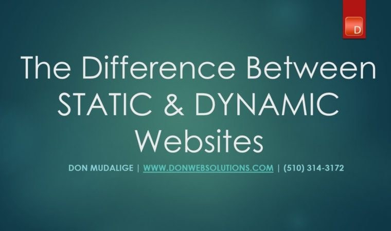 Difference Between a Static & a Dynamic Website ( Tutorial with visual Aids)