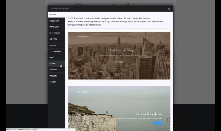 Build Your Own Custom WordPress Theme at Theme.Works – Introducing The Dashboard