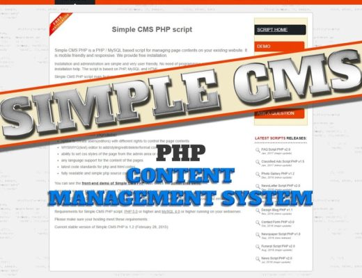 Easy To Use Simple CMS (Content Management System) – Php WordPress Alternative