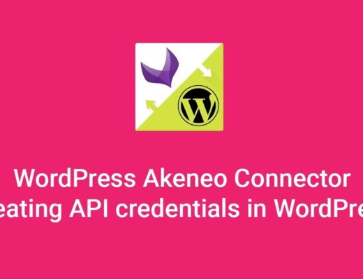 WordPress CMS Akeneo Connector – Creating API credentials in WordPress
