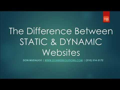 Difference Between a Static & a Dynamic Website ( Tutorial with visual Aids) How WordPress CMS Works