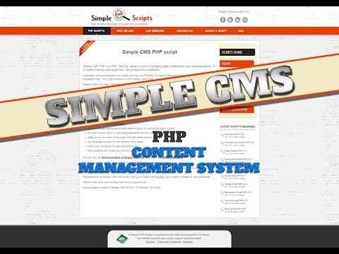Easy To Use Simple CMS (Content Management System) - Php WordPress Alternative What CMS WordPress