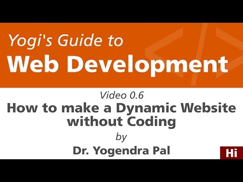 How to Make a Dynamic Website without Coding | Yogi's Guide to Web Development | Ch0E6 | Hindi How WordPress CMS Works