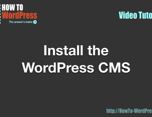 How To Install the WordPress CMS on your server