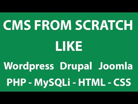 PHP Tutorials #2 – Advance CMS From Scratch like WordPress , Drupal or Joomla
