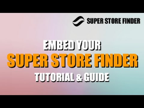Embedding Super Store Finder on WordPress, Joomla!, Static Page and CMS