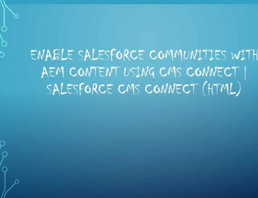 Enable Salesforce Communities with AEM Content using CMS Connect | Salesforce CMS Connect (HTML)