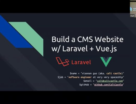 Build a CMS in an hour with Laravel + Vue.js