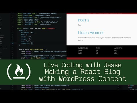 Making a React Blog with WordPress Content - Live Coding with Jesse How WordPress CMS Works