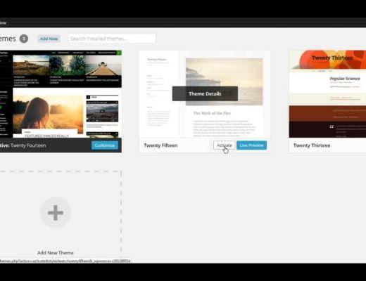 WordPress 101: How to Install a WordPress Theme 2015