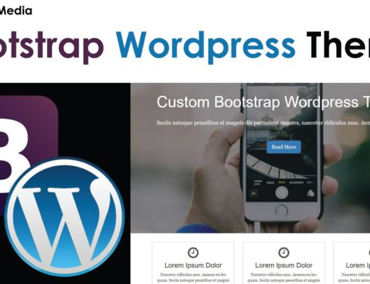 WordPress Theme With Bootstrap [8] – Custom Front Page