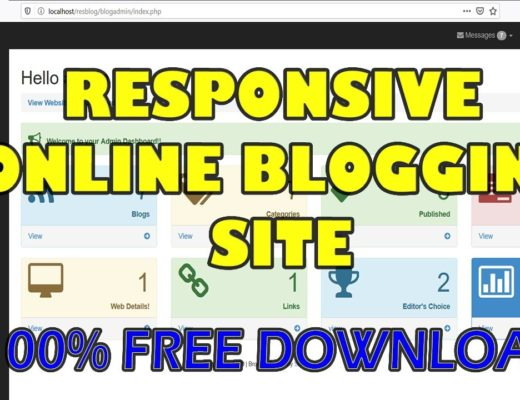 Responsive Online Blog Website using PHP/MySQL | Free Source Code