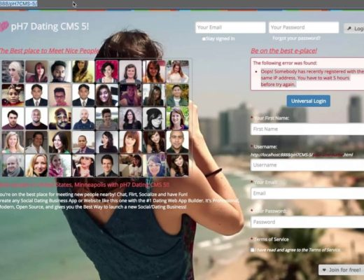 pH7 Social Dating CMS – After Installation of your Social Dating Website