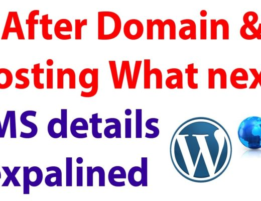 After domain and Hosting CMS should install – Content Management System WordPress