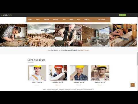 Wood Works Renovation Services Carpenter | CMS Themes | ThemeForest 23176550
