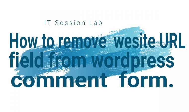 How to Remove URL Field From WordPress Comment Form | WordPress CMS | PROTECT SPAM
