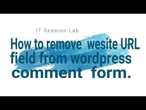 How to Remove URL Field From WordPress Comment Form | WordPress CMS | PROTECT SPAM What CMS WordPress