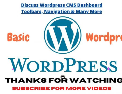 Discuss WordPress CMS   Dashboard, Toolbar, Navigation and Many More Options