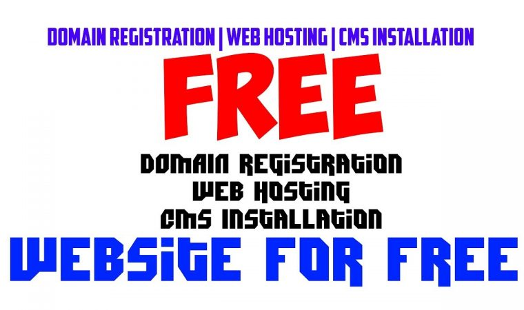 Domain Registration, Web Hosting and CMS Installation for Free