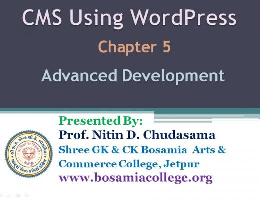 CMS Lecture Chapter 5 Advanced Development-(2) 30.09.2020