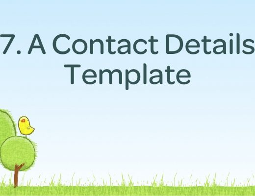 7. Contact Details Template